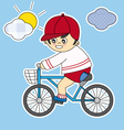child bicycle vector image vector image