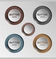 button sleek brown for web design vector image