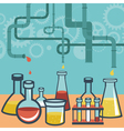 chemistry and science research vector image