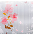 flower butterfly vector image