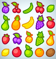 fruits icons full vector image
