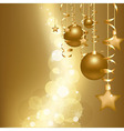 Gold Christmas Card vector image