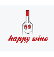 Happy wine vector image