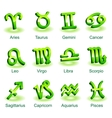 Horoscope zodiac star signs vector image