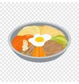 korean food isometric icon vector image