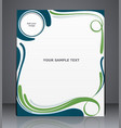 layout business brochure magazine cover web vector image