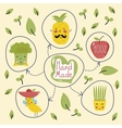 Organic product banner with fruit and vegetables vector image