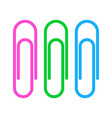 Paperclip icons vector image