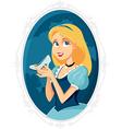 Princess Cinderella Holding Magic Shoe Cart vector image