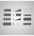 Set of flat simple web icons vector image