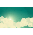 Sky with Sun and Clouds vector image