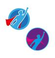 Superhero icon - Superhero silhouette vector image