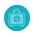 Symbol first aid kit medications tools vector image