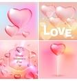 Valentine banners set vector image