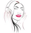 women listioning music vector image
