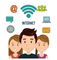internet communication technology isolated icon vector image