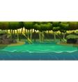Underwater background Landscape  For web mobile vector image