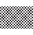 Black white checkerboard check diagonal seamless vector image