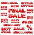 Shopping tags set vector image