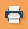 Icon of Printer Flat style vector image vector image
