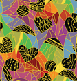 abstract pattern with geometric shapes vector image vector image