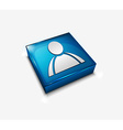 user web icons vector image