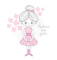 Ballerina gently pink color vector image