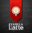good morning coffee break Hot Coffee cup on black vector image