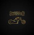 chopper motorcycle logotype vector image