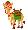 cute camel cartoon walking vector image