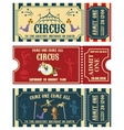 Vintage Circus banner collection Ticket vector image