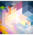 Abstract geometry blue grunge background vector image