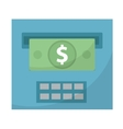 ATM gives out money icon cashouts flat design vector image