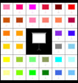 Blank projection screen felt-pen 33 vector image