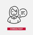 consultant - modern line design single icon vector image