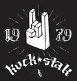 Hard Rock poster Hand drawn vector image
