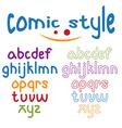 lowercase comic style alphabet vector image