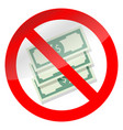 prohibition of corruption vector image
