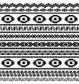 Seamless aztec pattern vector image