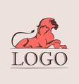Vintage lion logo vector image