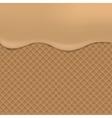 Wafer background vector image
