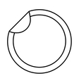 circle sticker isolated icon vector image