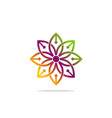 abstract flower beauty decoration logo vector image