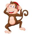 Cute monkey cartoon dancing vector image vector image