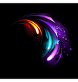 Abstract purple crystal vector image vector image