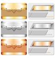 metal cards vector image