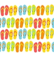 Beach Seamless Background with Flip Flops vector image