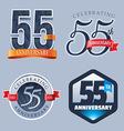 55 Years Anniversary Logo vector image