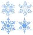 Set Snowflake Flake of snow vector image