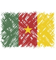 Cameroon grunge flag vector image